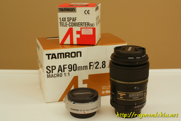 Tamron 90mm f2.8 macro with 1.4 Tele-converter (Nikon mount)