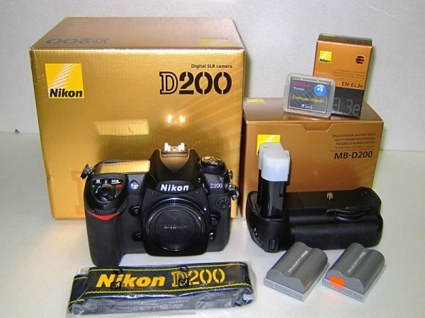 Nikon D200 with battery grip